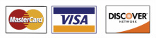 All Major Credit Cards (Visa, MC, Discover, American Express) Accepted